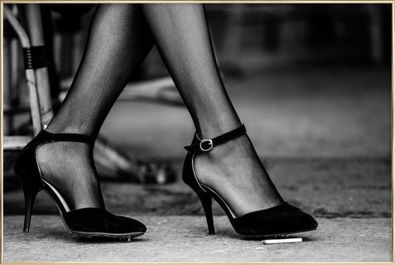 High Heels -Poster im Alurahmen