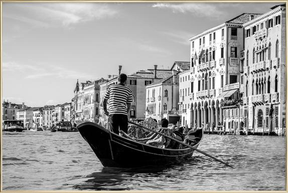 Venice -Poster im Alurahmen