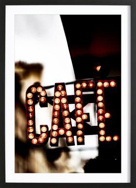 Café ingelijste print