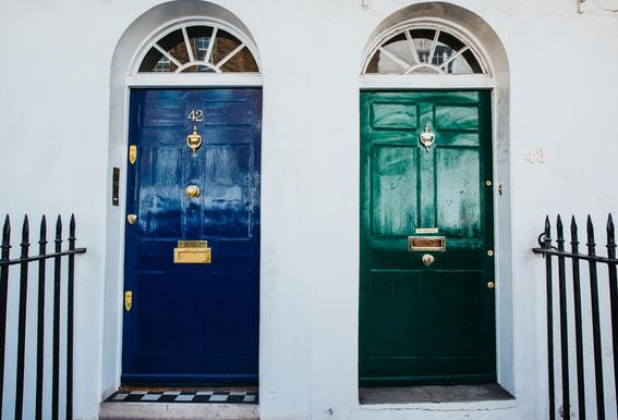London Doors Aluminium Print