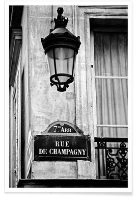 Rue de Champagny -Poster