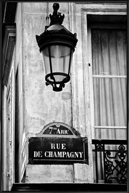 Rue de Champagny Framed Poster