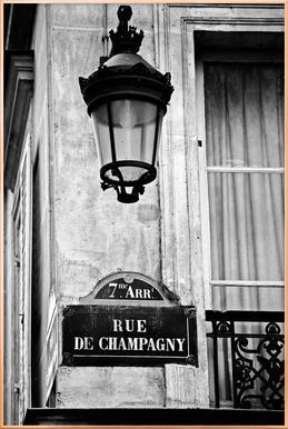 Rue de Champagny -Poster im Alurahmen
