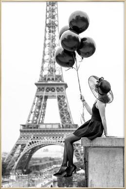 Black Balloons -Poster im Alurahmen