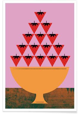 Strawberry Illustration Poster