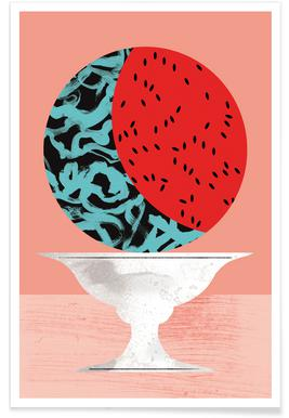 Watermelon Illustration Poster