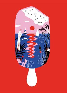 Hot Hot Summer - Paradise Ice Cream Canvas Print