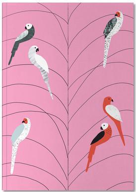 Tropicana - Birds on Branch Pink Notebook