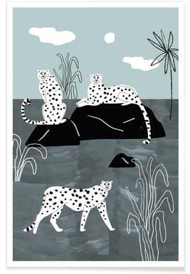 Royal Palm Illustration Poster