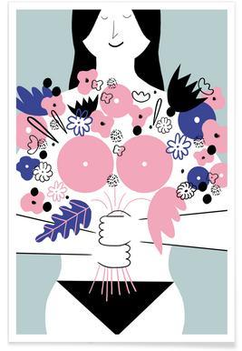 Ruban rose - Illustration affiche