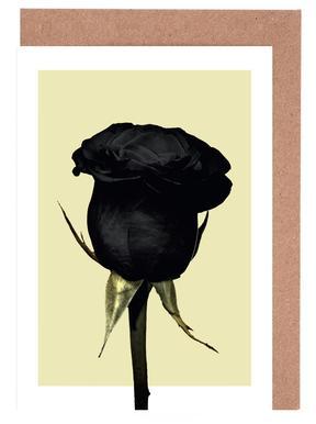 Dark Rose -Grußkarten-Set