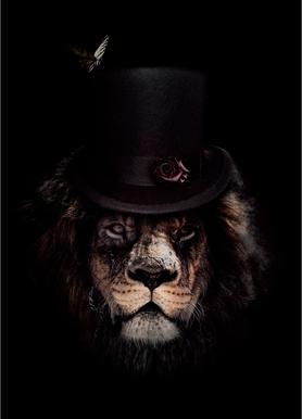 Classy Lion Canvas Print