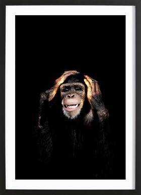 Monkey Hear No Evil Framed Print
