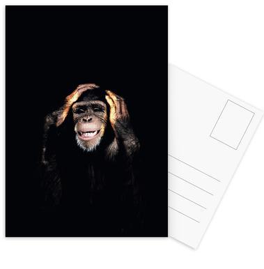 Monkey Hear No Evil cartes postales