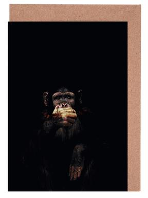 Monkey Speak No Evil cartes de vœux