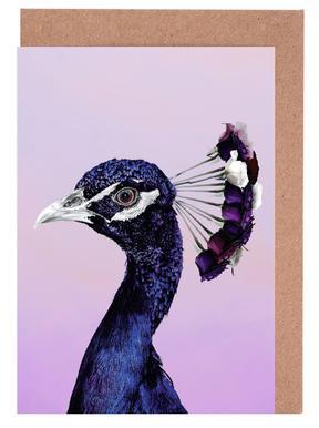 Purplish Peacock cartes de vœux