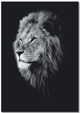 Dark Lion Head Notebook