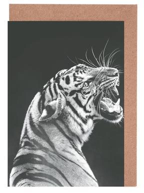 Grey Tiger Greeting Card Set