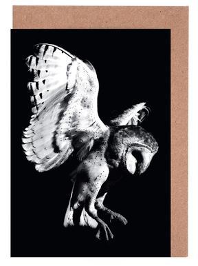 Barn Owl wenskaartenset