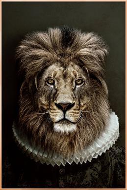 Classy Lion poster in aluminium lijst