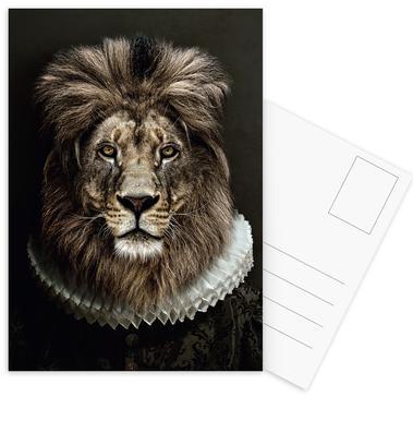 Classy Lion Postcard Set
