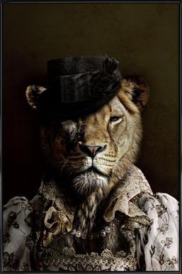 Classy Lioness ingelijste poster