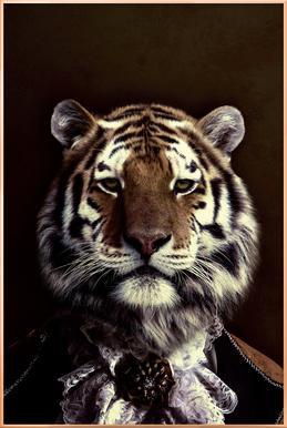 Classy Tiger 2 poster in aluminium lijst