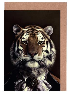 Classy Tiger 2 Greeting Card Set