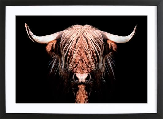 Dark Highlander Framed Print