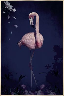 Flamingo poster in aluminium lijst