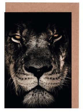 Dark Lion Greeting Card Set