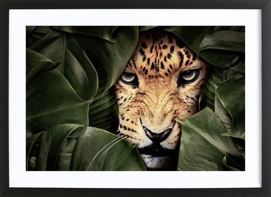 Jungle Leopard ingelijste print