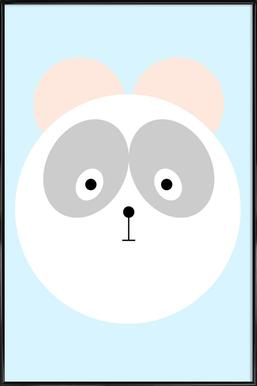 Elton the Panda -Bild mit Kunststoffrahmen