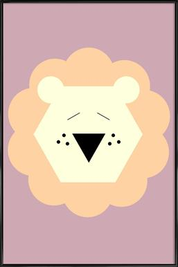 Tina the Lion -Bild mit Kunststoffrahmen