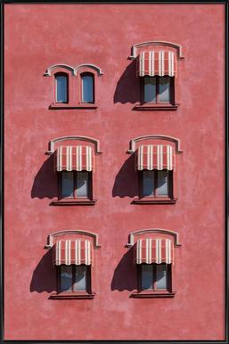 Red Vintage Wall ingelijste poster