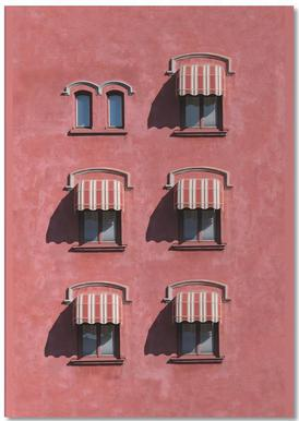 Red Vintage Wall notitieblok
