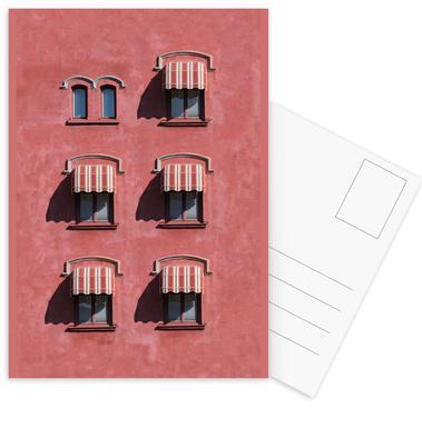 Red Vintage Wall ansichtkaartenset