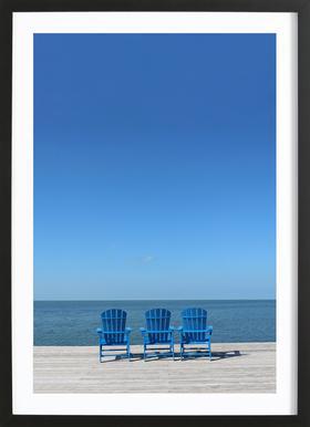Ocean View ingelijste print