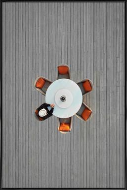 Lonely Lunch ingelijste poster