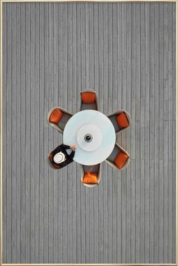 Lonely Lunch poster in aluminium lijst