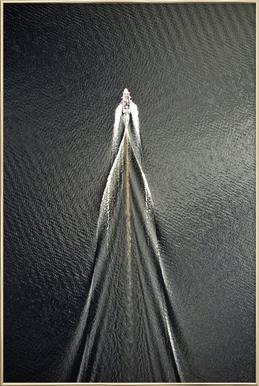 Usain Boat Poster in Aluminium Frame