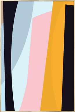 Pastel 2 poster in aluminium lijst