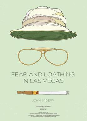 Fear and Loathing in Las Vegas Canvastavla