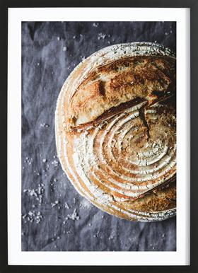 Sauerteigbrot No. 1 ingelijste print
