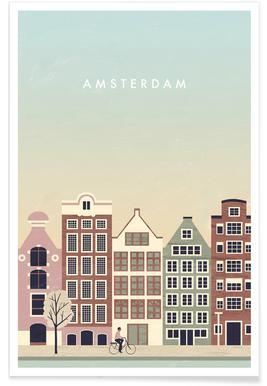 Amsterdam - retro poster