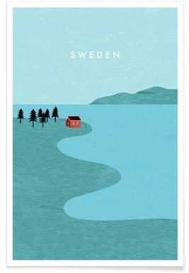 Suède - Rétro affiche