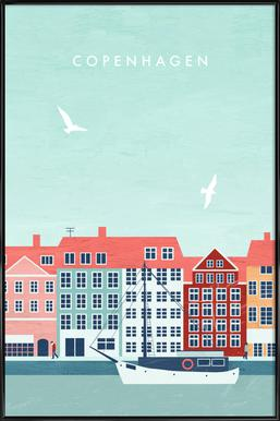 Kopenhagen -Bild mit Kunststoffrahmen