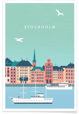 Retro Stockholm Plakat