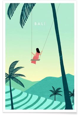 Retro Bali Plakat