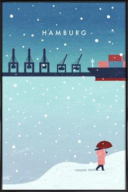 Hamburg Im Winter Framed Poster